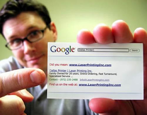 carte de visite google search
