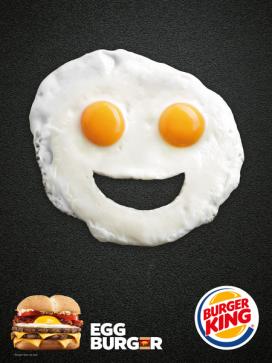 Communication visuelle Egg Burger